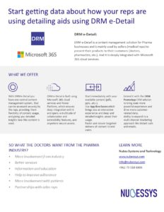 DRM e-Detail one pager