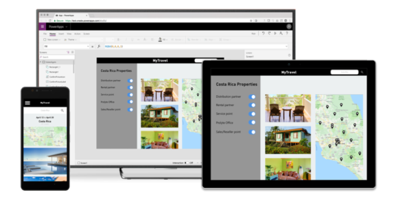 powerapps build and use on mobile devices